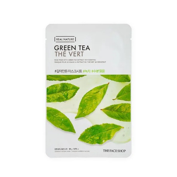 Тканевая маска с экстрактом зеленого чая Real Nature Green Tea, THE FACE SHOP